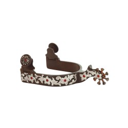 Eperons WESTERN Bruni avec STRASS ET FLOWERS