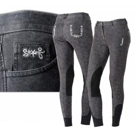 """Culotte jeans """" fleurs"""""""