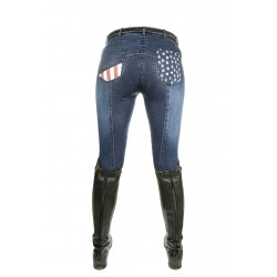 Pantalon d'équitation Stars & Stripes Denim