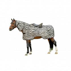 Couverture anti-mouches Zebra découpe selle